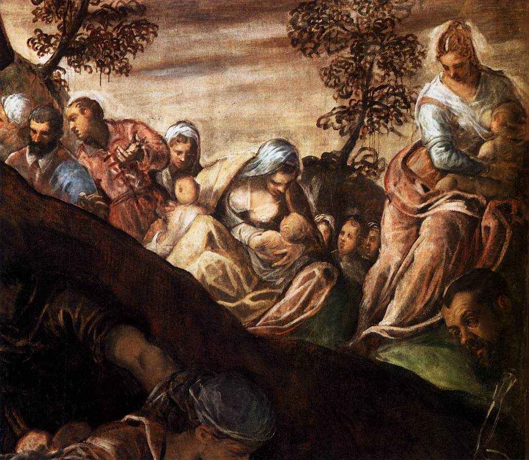 ( The Miracle of the Loaves and Fishes    Tintoretto 1518–1594)