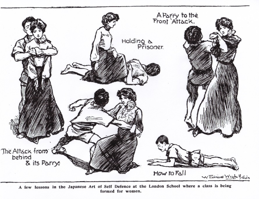 Women's jiu-jitsu classes at the London School circa 1905