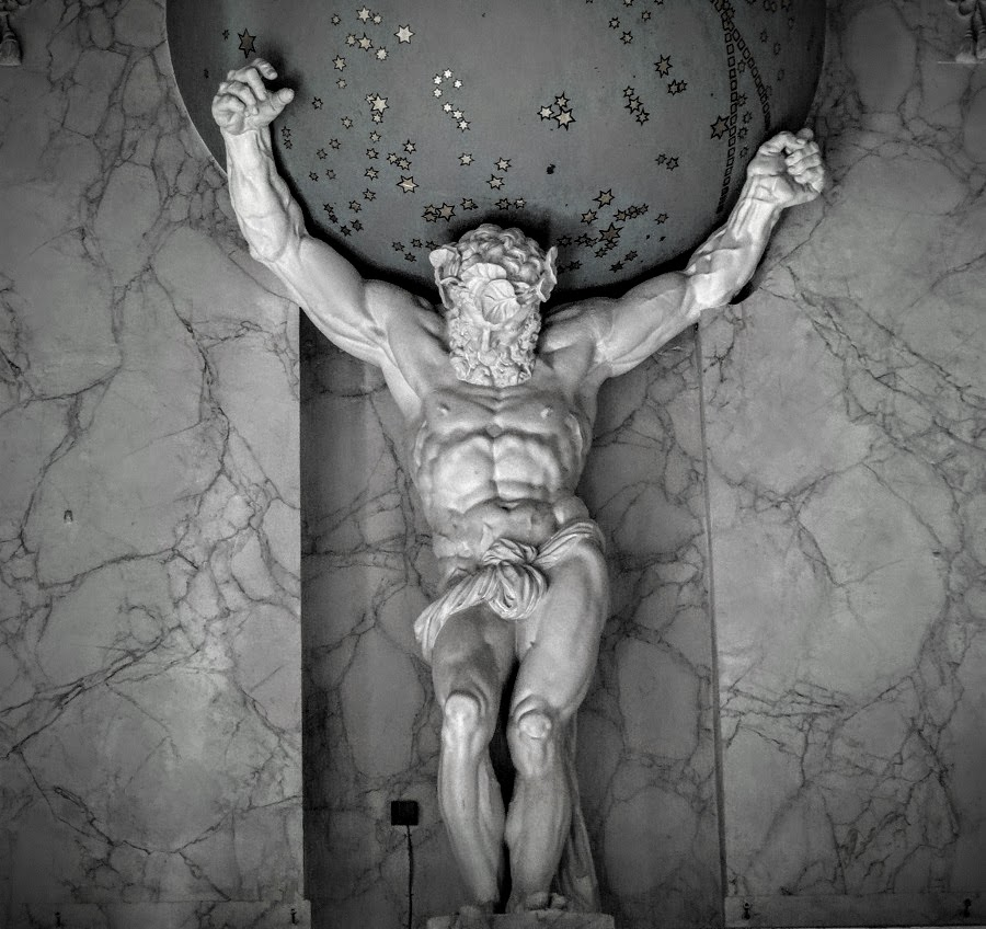 ( Atlas in Burgerzaal  | Photo by G.Lanting)