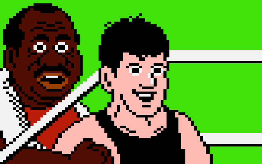 "Doc Louis and Little Mac, from the classic Nintendo game ""Punch-Out!!"""