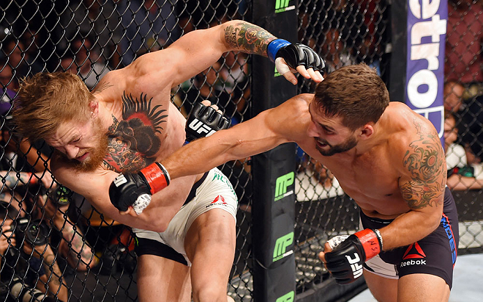 Conor McGregor and Chad Mendes