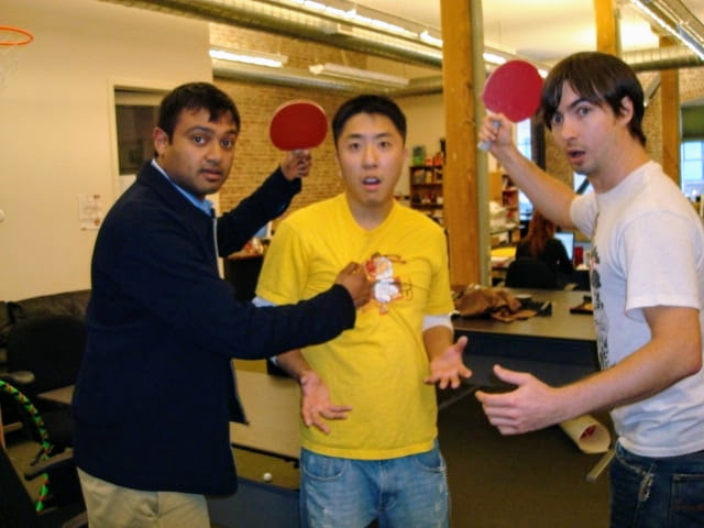 Having fun with some of the founders of Yelp