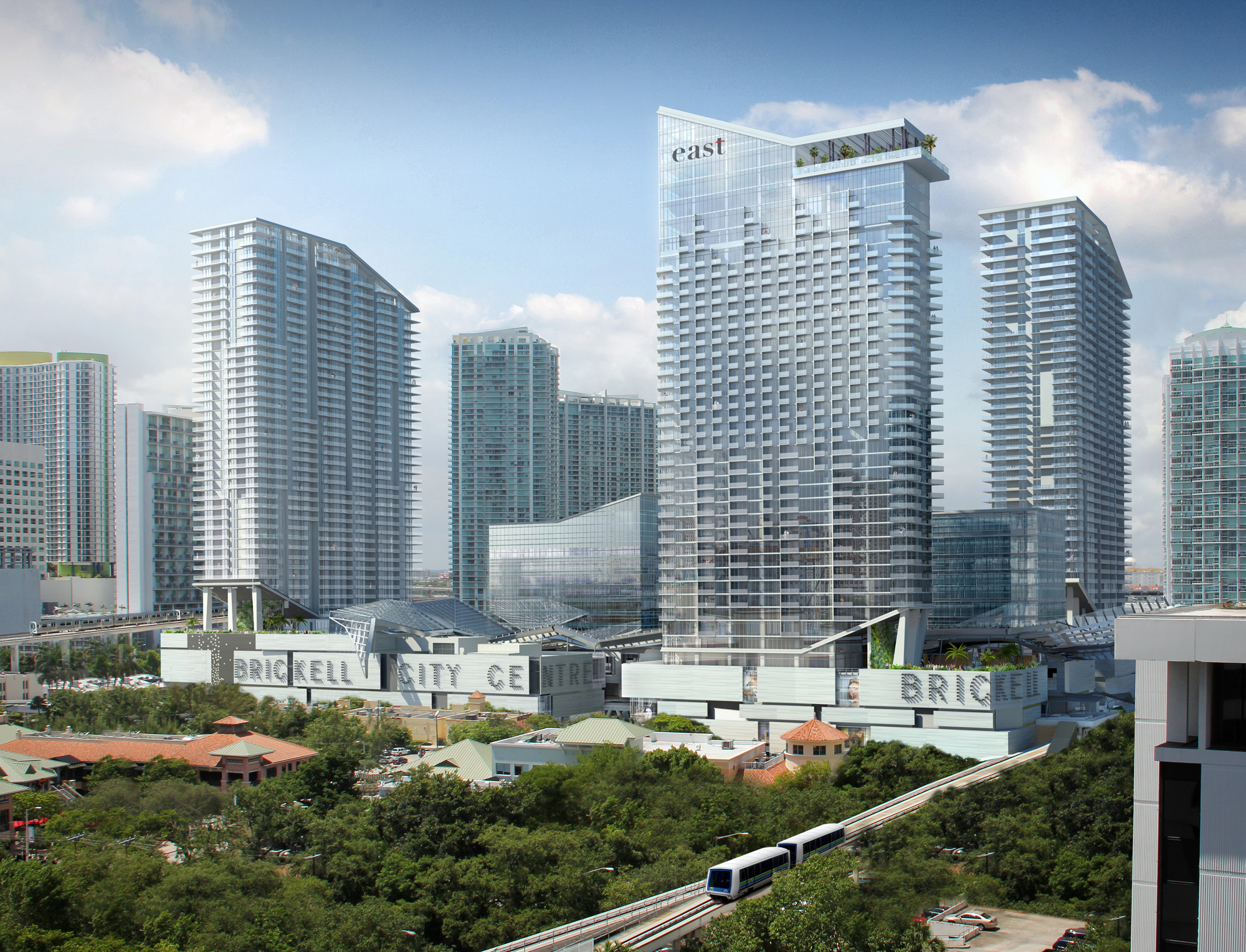 Brickell City Centre  is an exhilarating $1.05 billion paid-out-of-pocked mixed use development pioneered by Hong Kong based Swire Properties.(太古集团) Strategically located in the center of the Brickell financial district, this is the single largest project underway in Brickell, Miami.