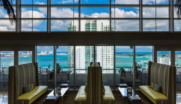 The best urban view in the city has to belong to Atrio on the 25th floor of the Conrad Hotel in Brickell. The western view out of the dining room gives you the Brickell skyline and sprawling Miami in the background, while the eastern view from the patio has you towering above the Rickenbacker causeway as it stretches across the Bay to Key Biscayne.