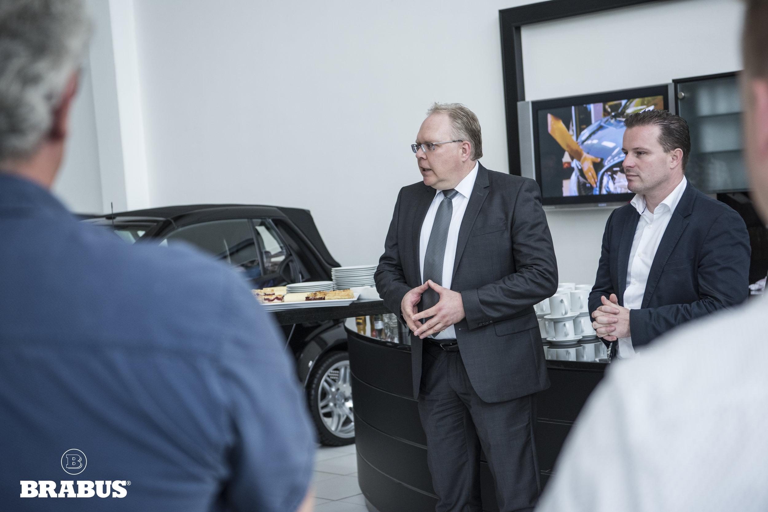 Herr Hoster Brabus Geschäftsführer Finance und HR, Marketing/Werbeleitung/ PR Sven Gramm