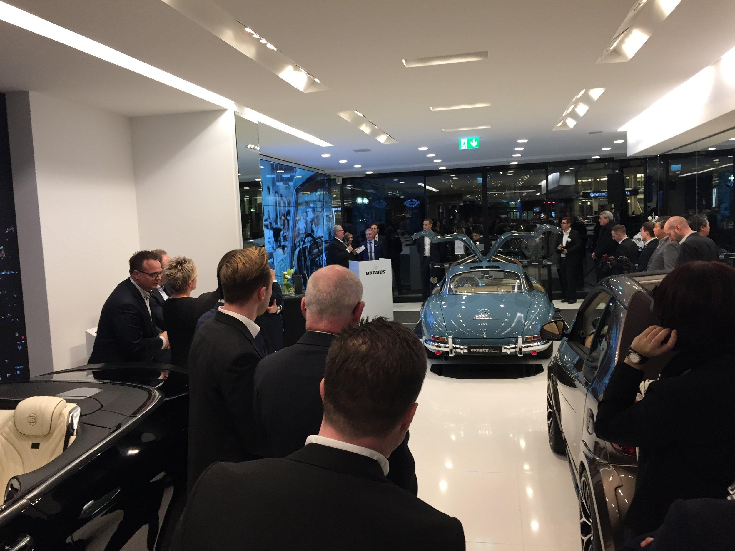 feierliche BRABUS Flagship-Store KÖ90 Eröffnung im Dezember 2017