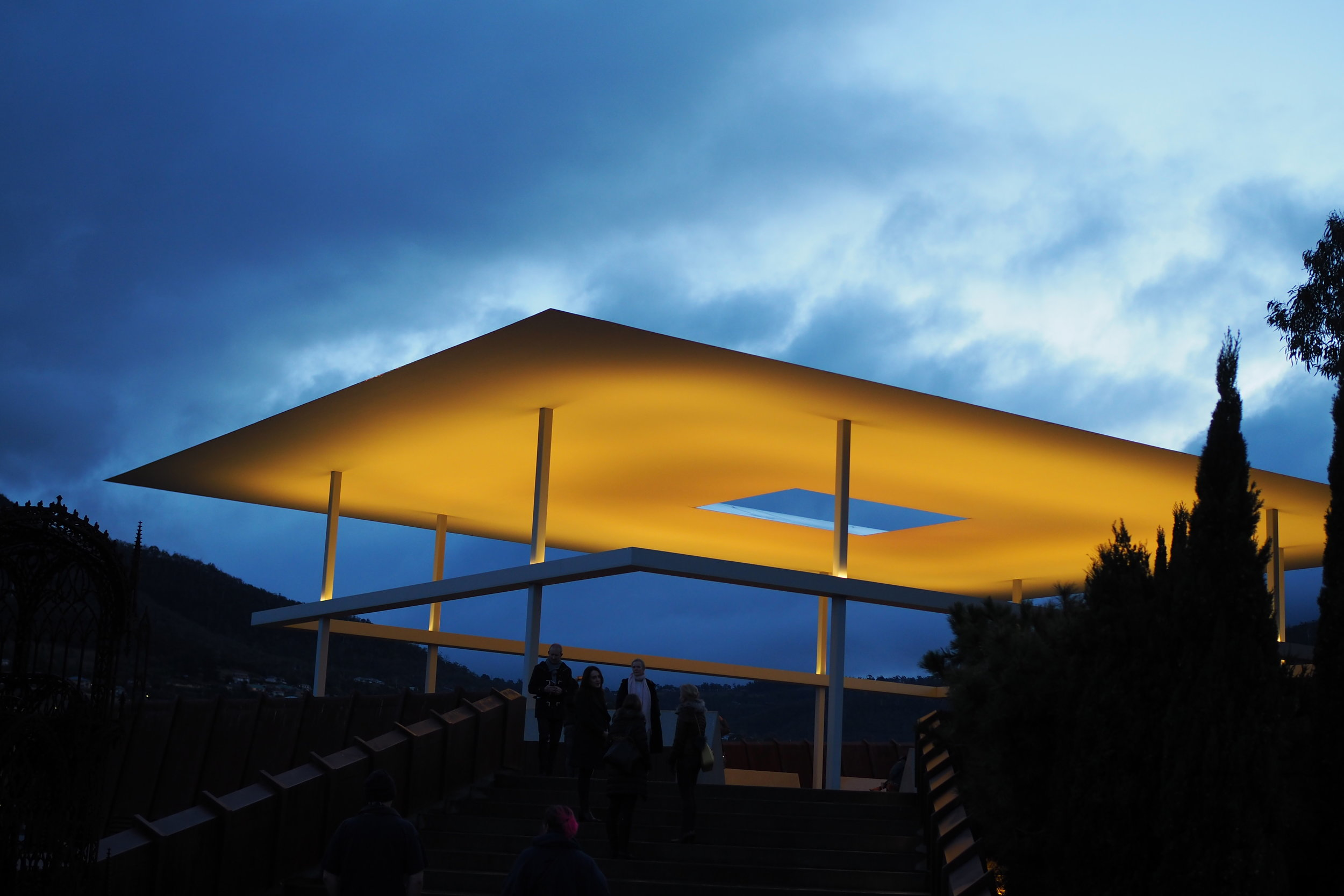 James Turrell's Amarna elevated as if it were God's gazebo