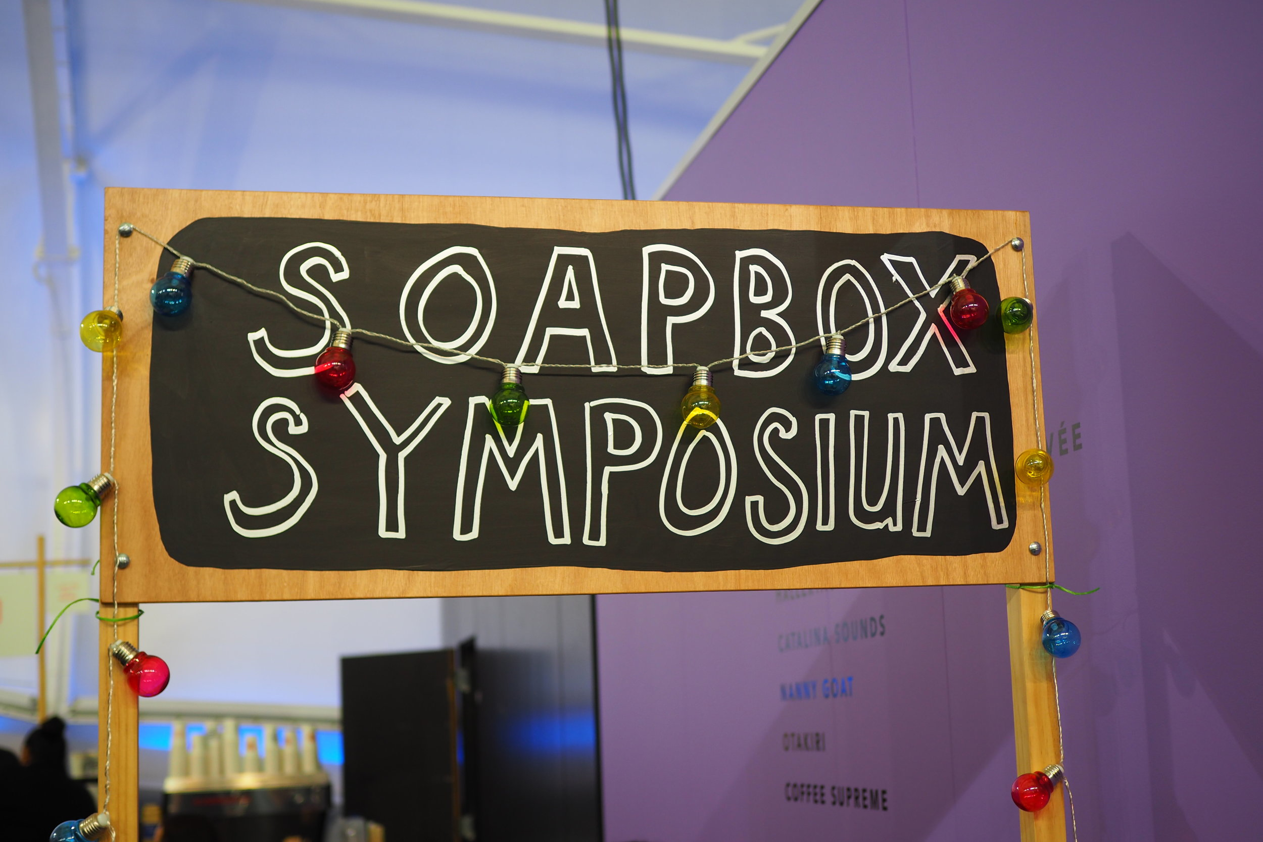 The Soapbox Symposium, speak to an artist about a topic of your choice.
