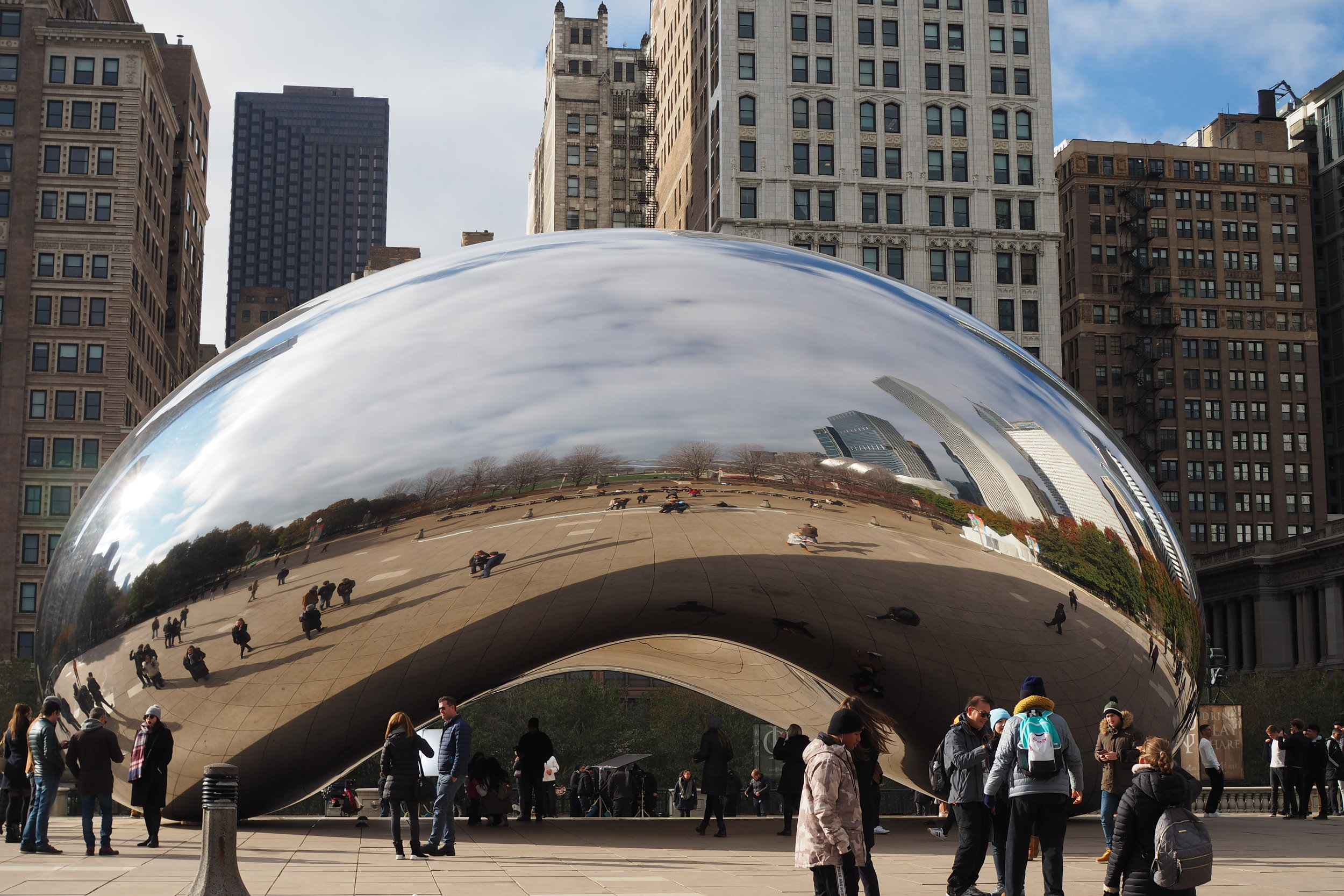 """'Cloud Gate' by Anish Kapoor. Fondly called """"The Bean"""" by locals, it has brought millions of visitors to Millennial Park to photograph this awe-inspiring piece"""