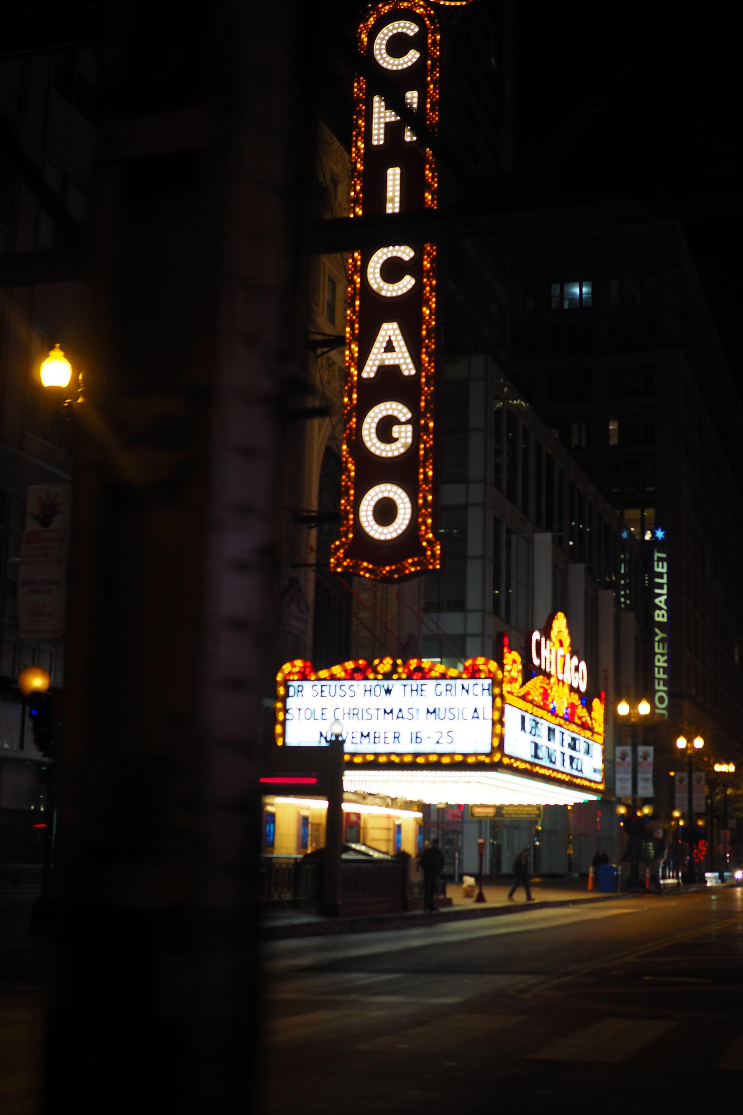 Broadway show anyone? Exploring Chicago at night…