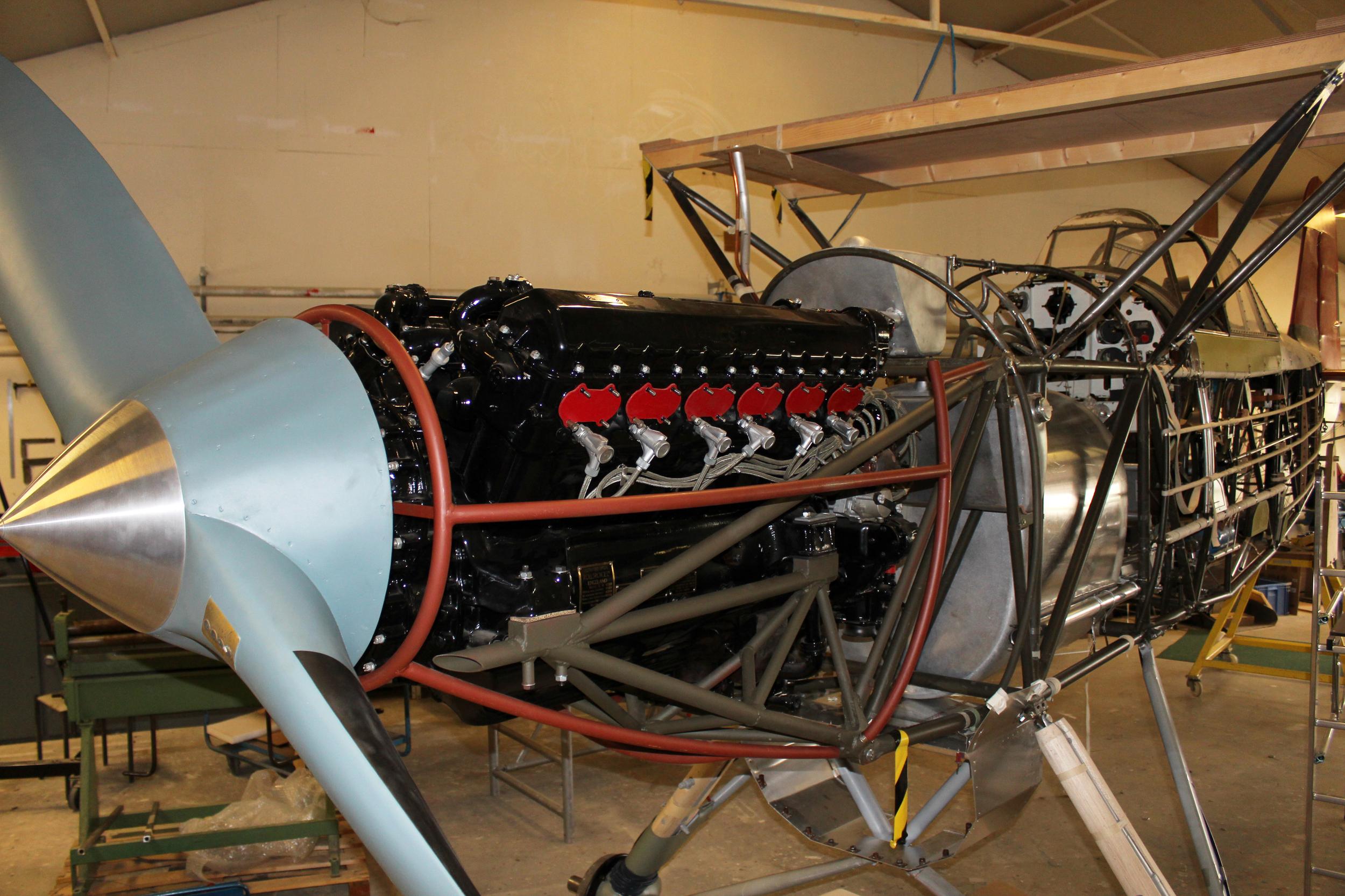 reconstruction of Fokker CX engine mount