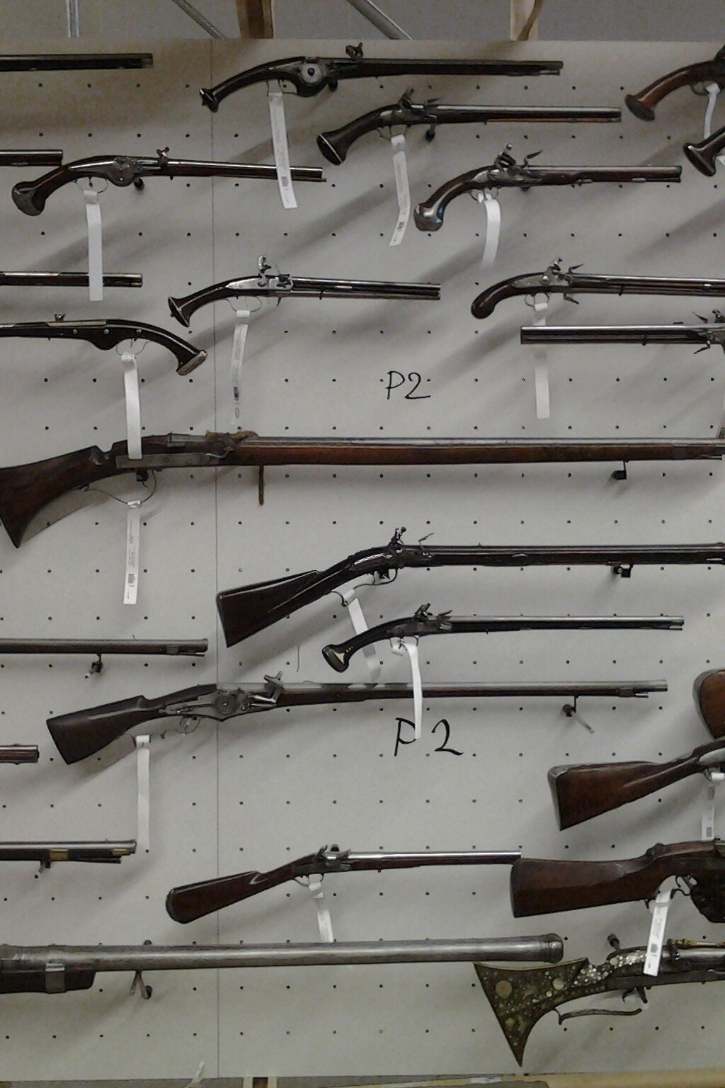 Flintlock pistol and rifle display