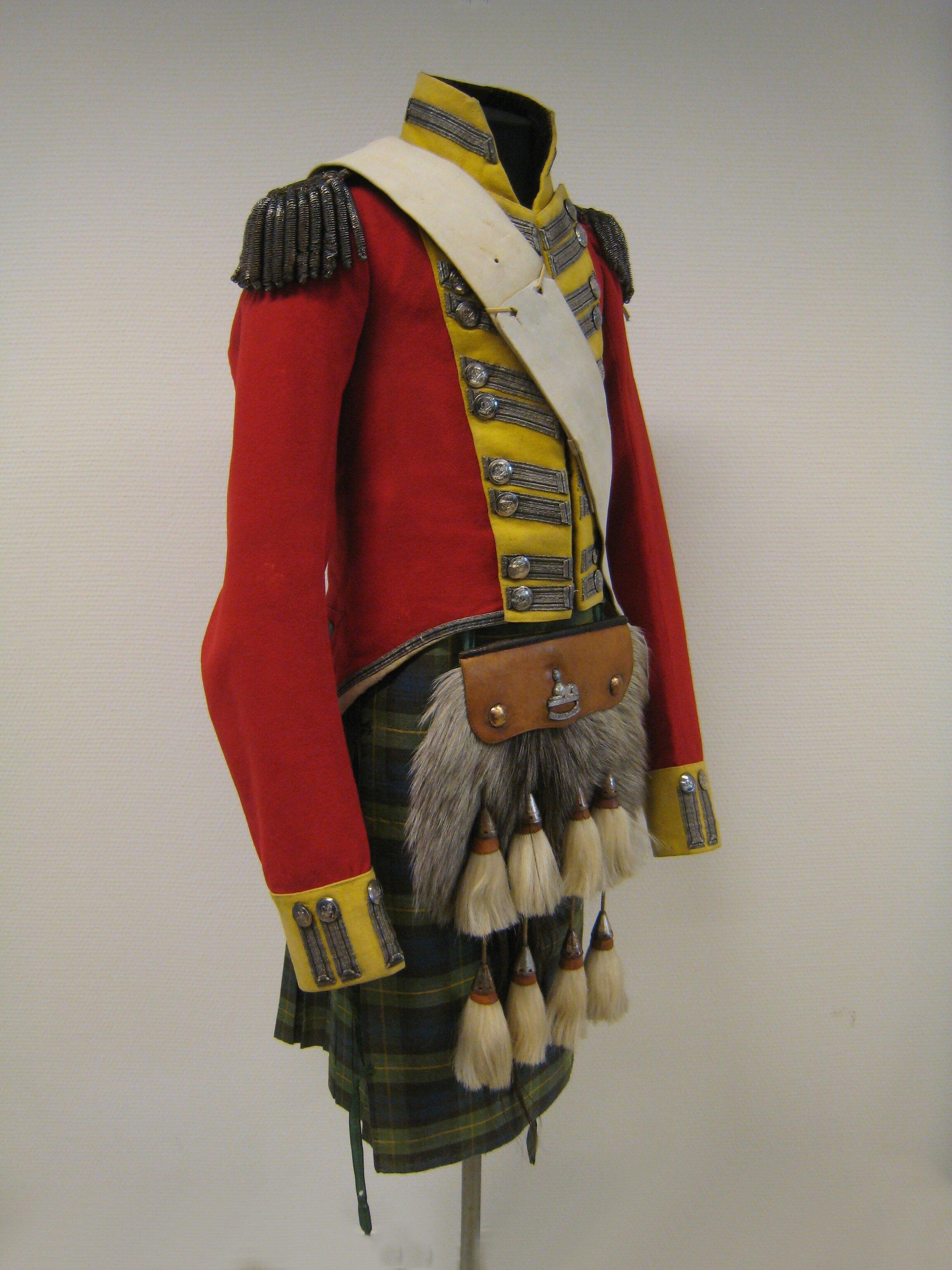 Scottish Napoleonic era uniform