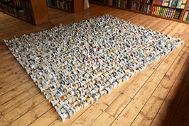 2016 'Idiot Compression' rearranged. Paper. 300cm by 243cm Richard Booth's Bookshop 2016 266w..jpg