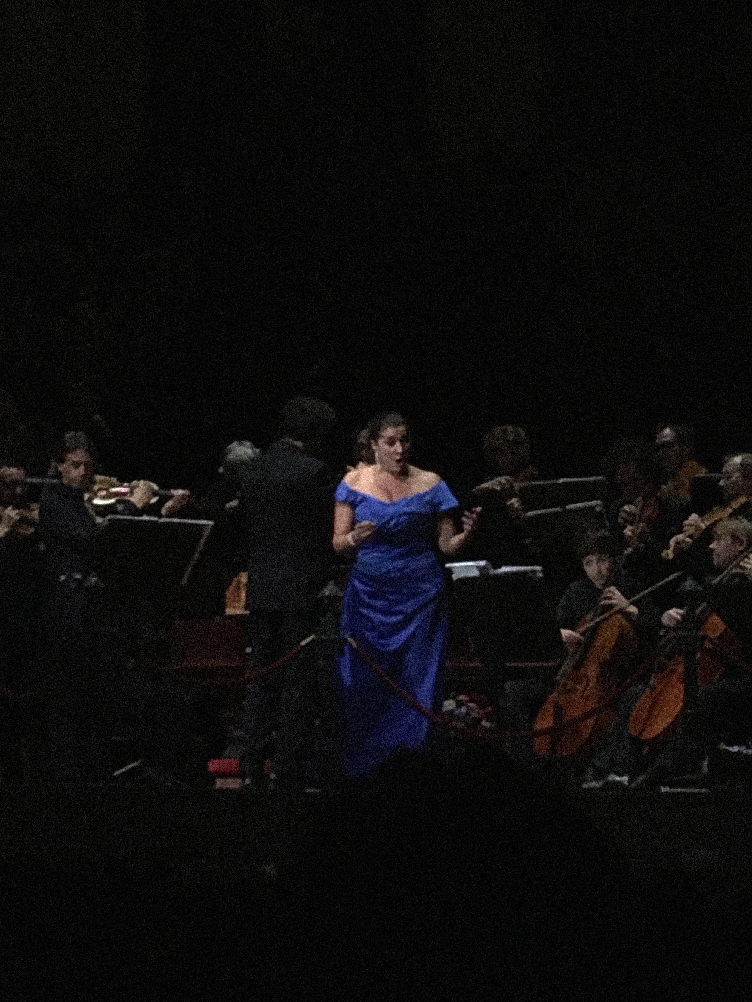 Cecilia Bartoli on stage in Het Concertgebouw ©darja brouwers