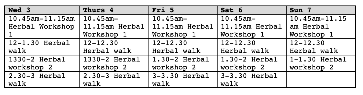 Workshop Schedule: Timings subject to change