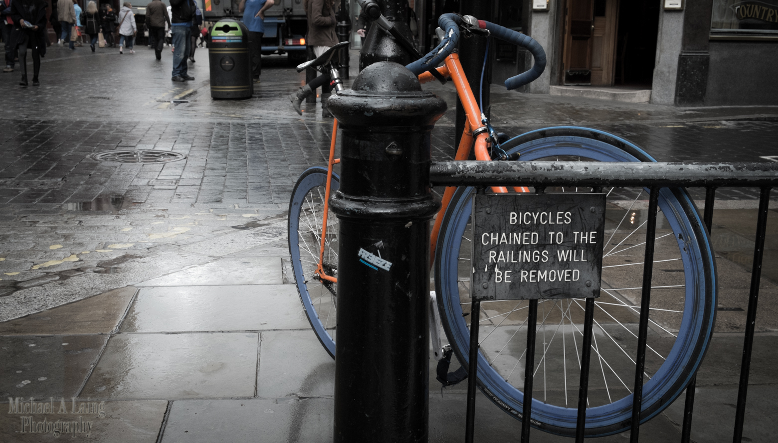 Walking around London and this image stood out for me.
