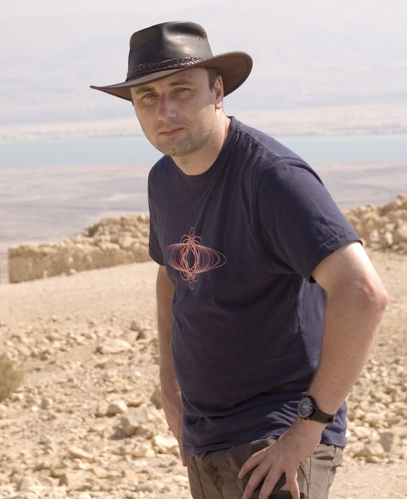 Taking a break whilst filming a travel documentary in Israel (shot at Masada)