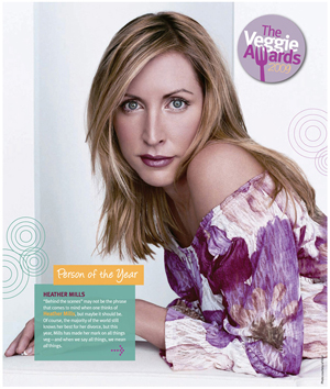 2009 VegNews Person of the Year, Heather Mills