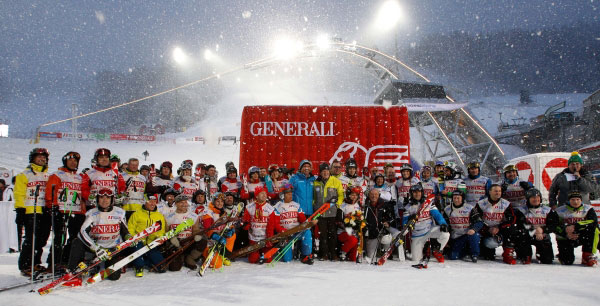 Flachau Charity Race: VIP guest of honour and participant.