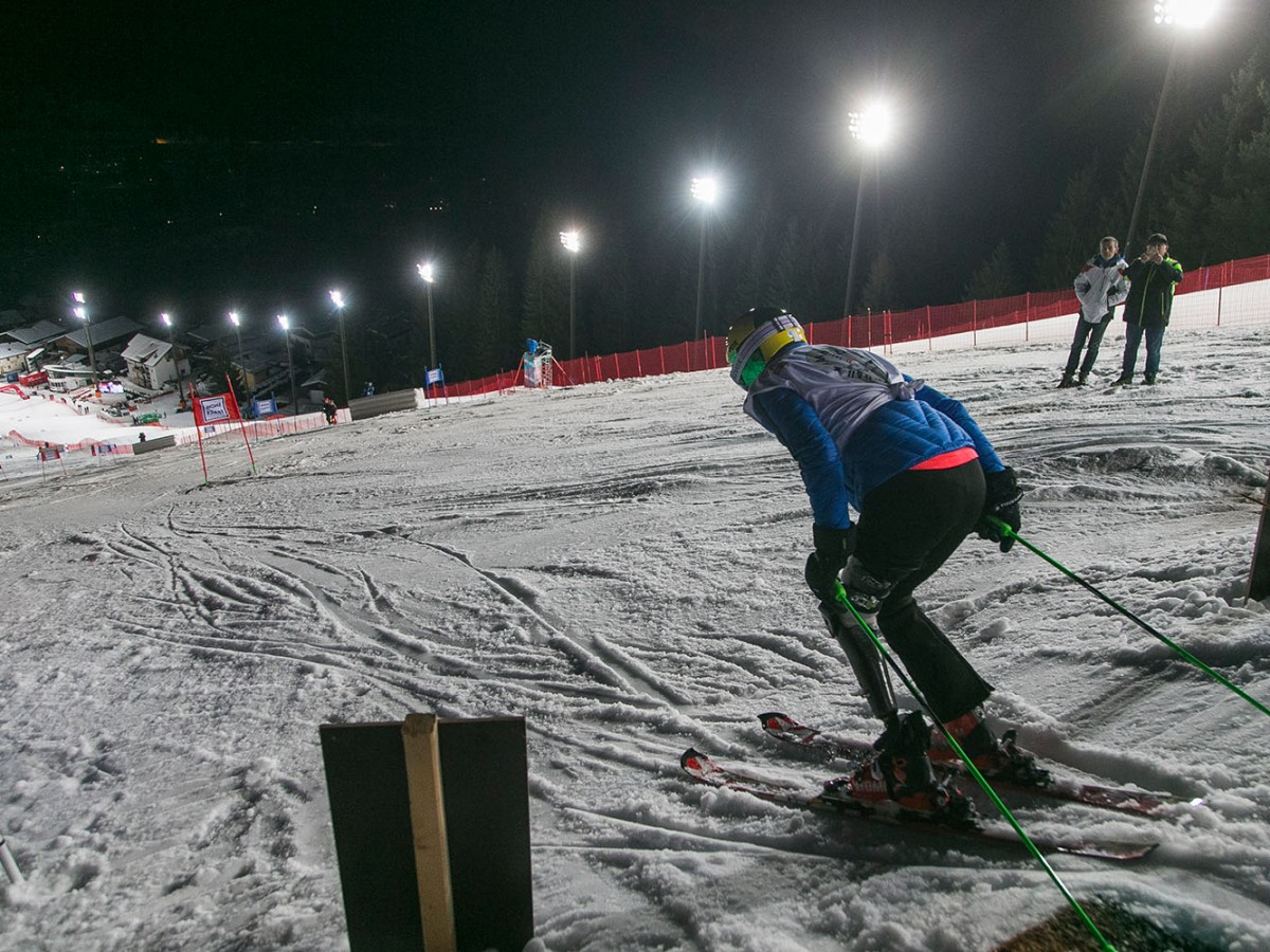 Heather skiiing in the Star Challenge Race