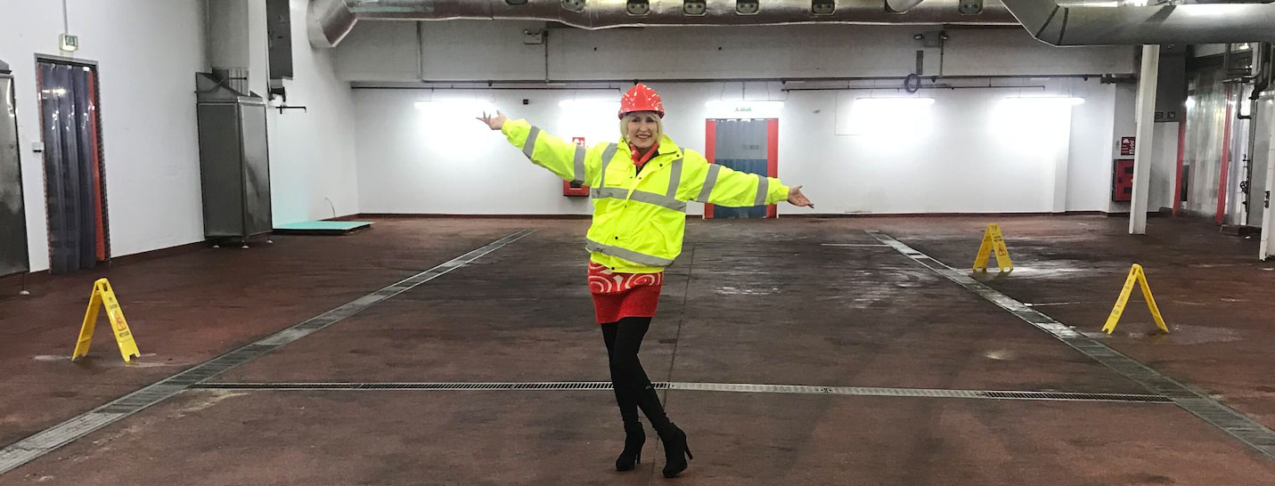 Heather in the former Walkers factory at Peterlee, which will open as a VBites factory this summer.