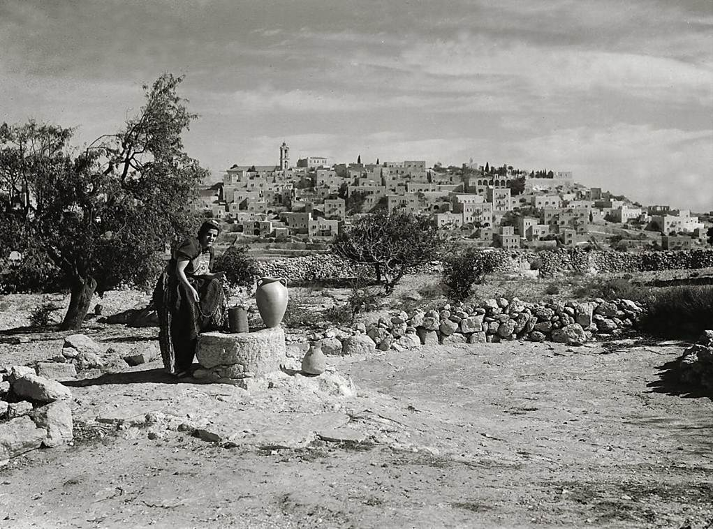 A woman at a well just outside of Bethlehem (1938)