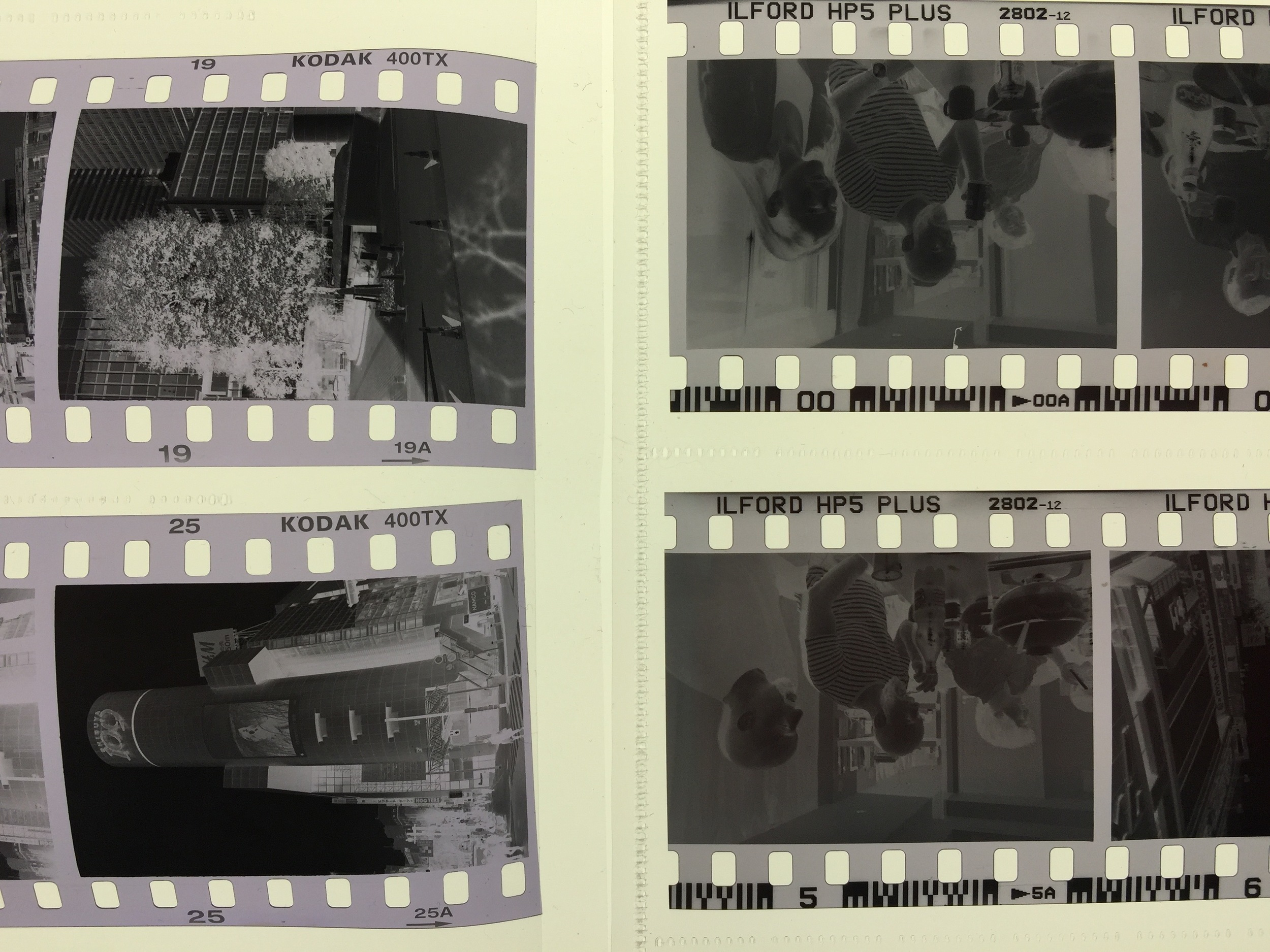 Besides not being purple, look at how flat HP5 dries. This Tri-X spent a week in Magnum contact sheets, too.