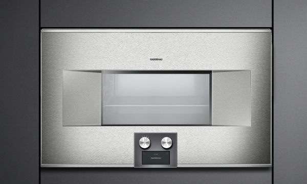 Gaggenau's 400 series combination steam oven with stainless steel finish
