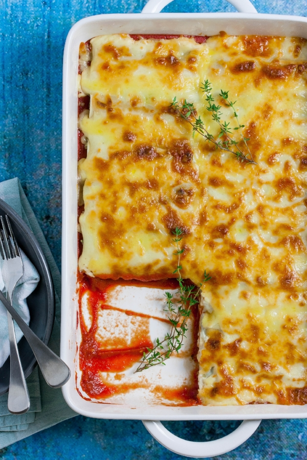 Serving up steam oven spinach and ricotta cannelloni