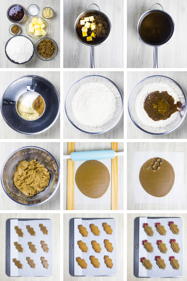 Step by step images for making best ever gingerbread cookies.