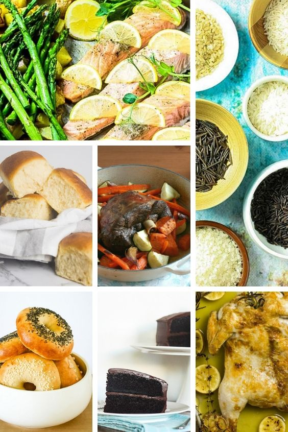 A collage of pictures of the top 10 steam oven recipes