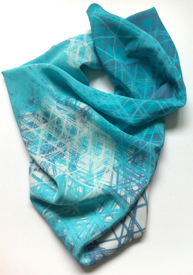 Jo Angell 'Gasholder no1' silk scarf blue.JPG