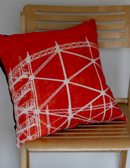 JoAngell Gasholder red cushion jo angell.jpg