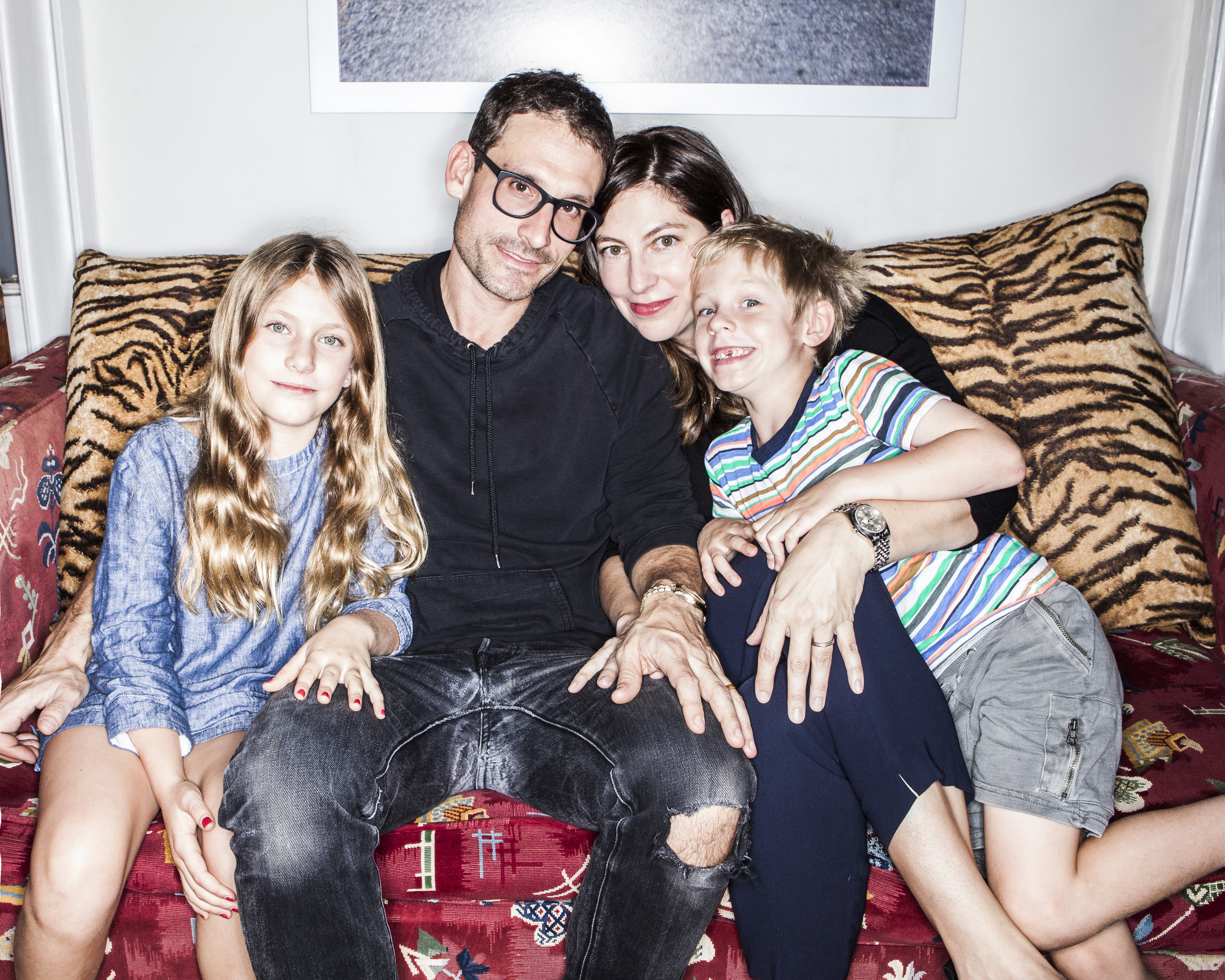Sasha and her family, photographed by Sharon Suh