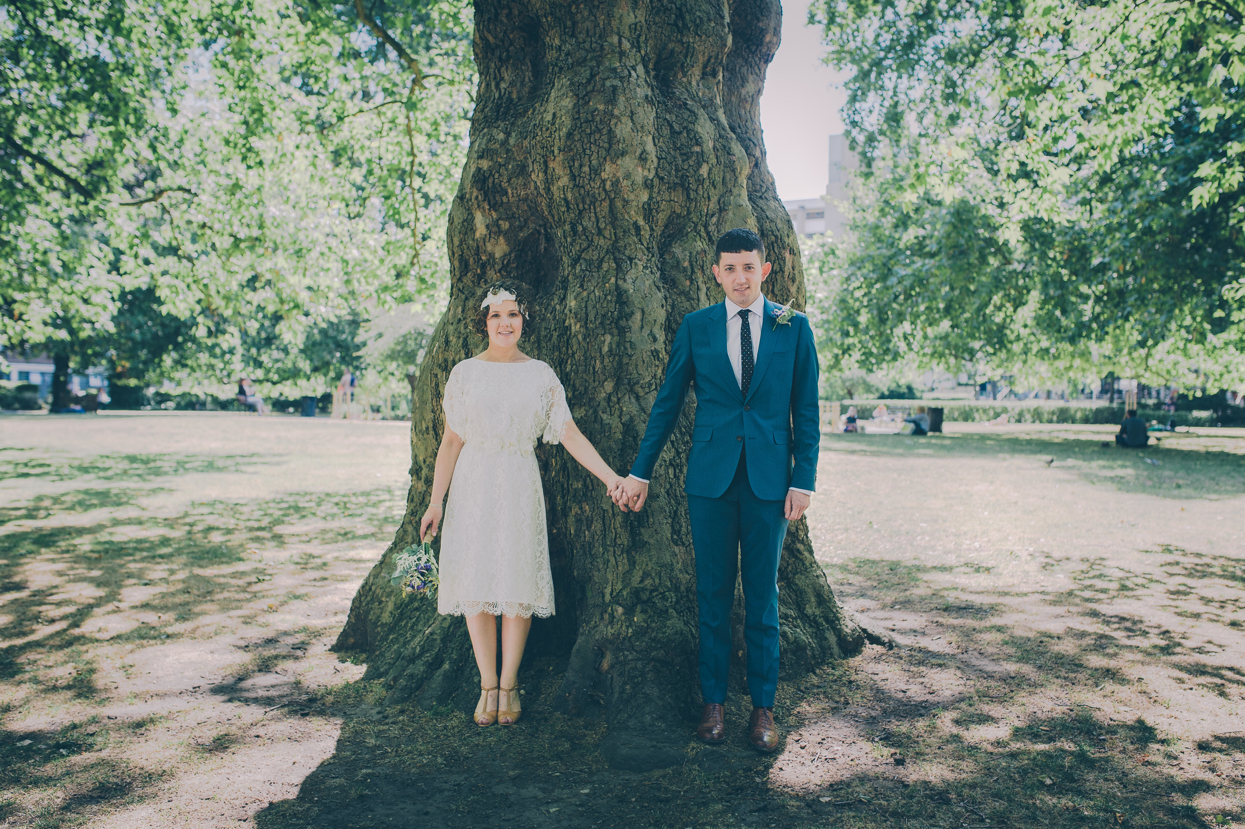London Wedding in the park