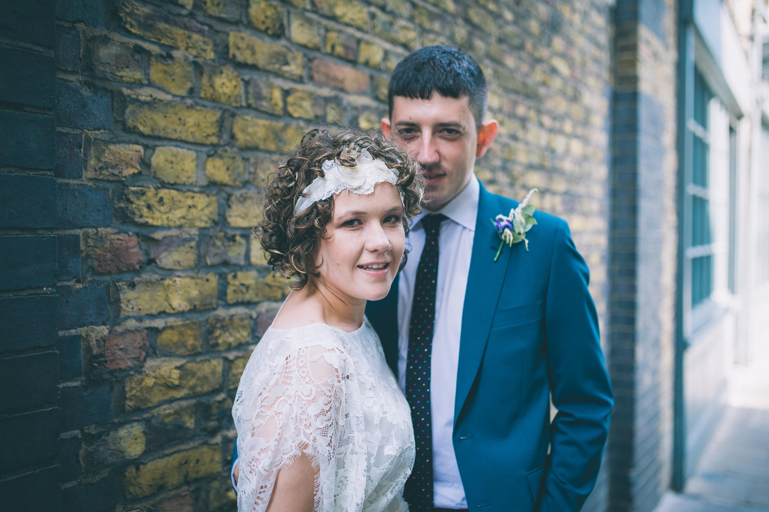 London wedding bride and groom