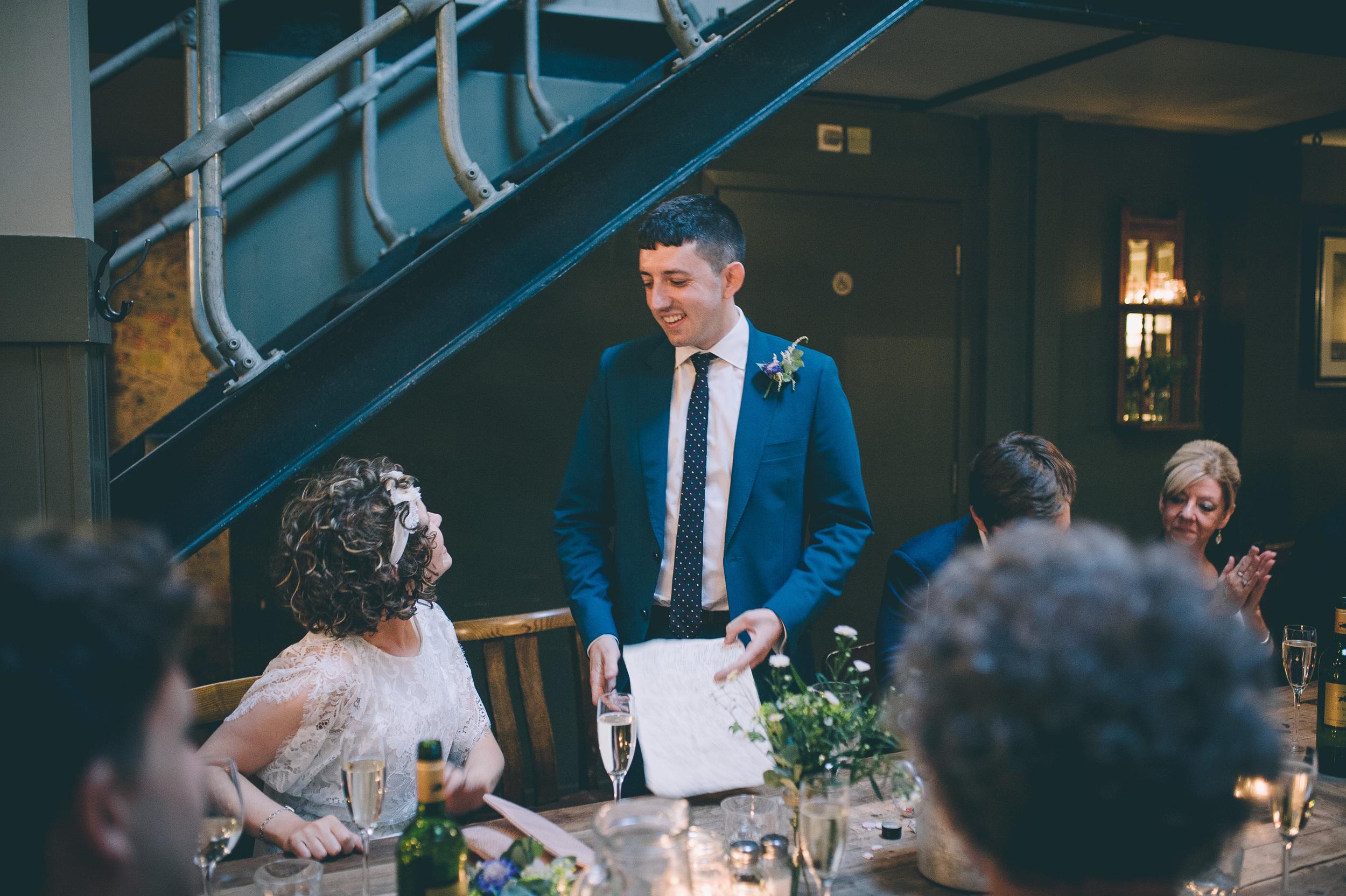 The Artisan of Clerkenwell wedding speeches