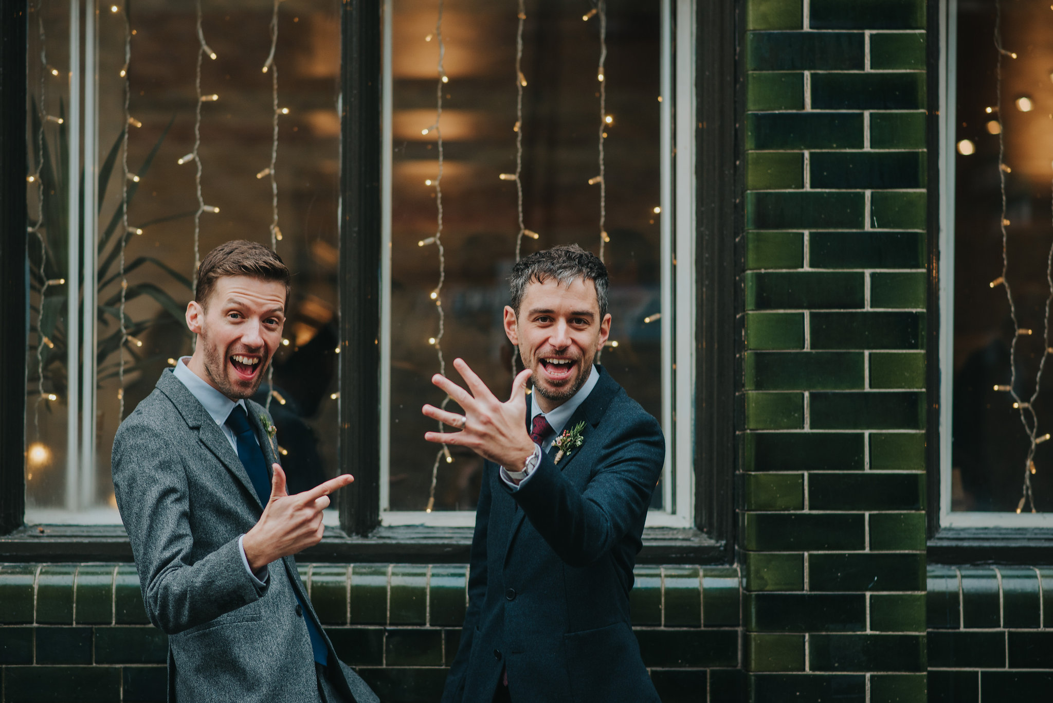 two grooms with wedding ring