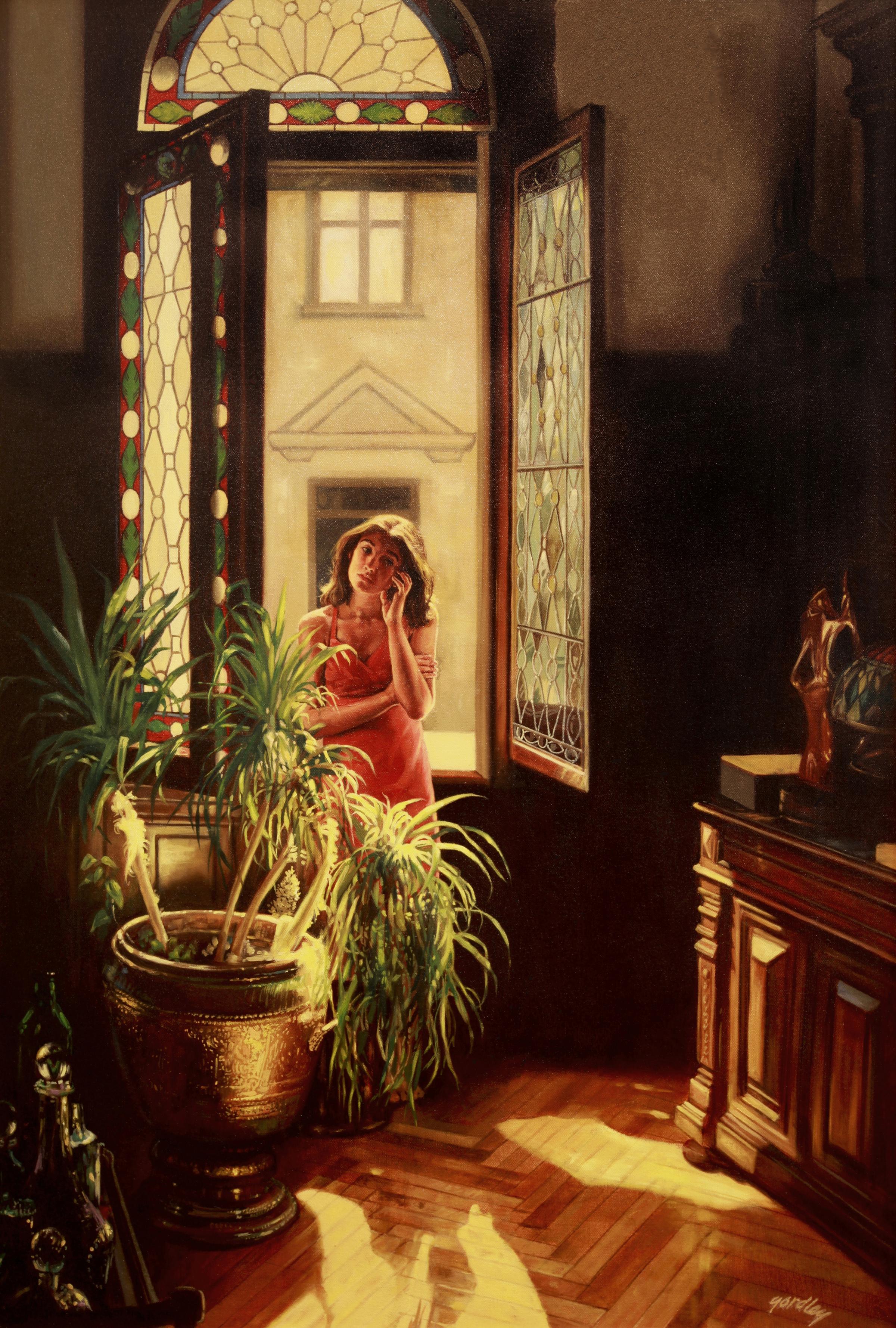 Evan at Noon, Vienna, oil on canvas, 44 x 36 in.