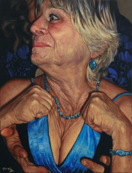 Leslie, Palm Sunday, oil on canvas, 24 x 20 in.