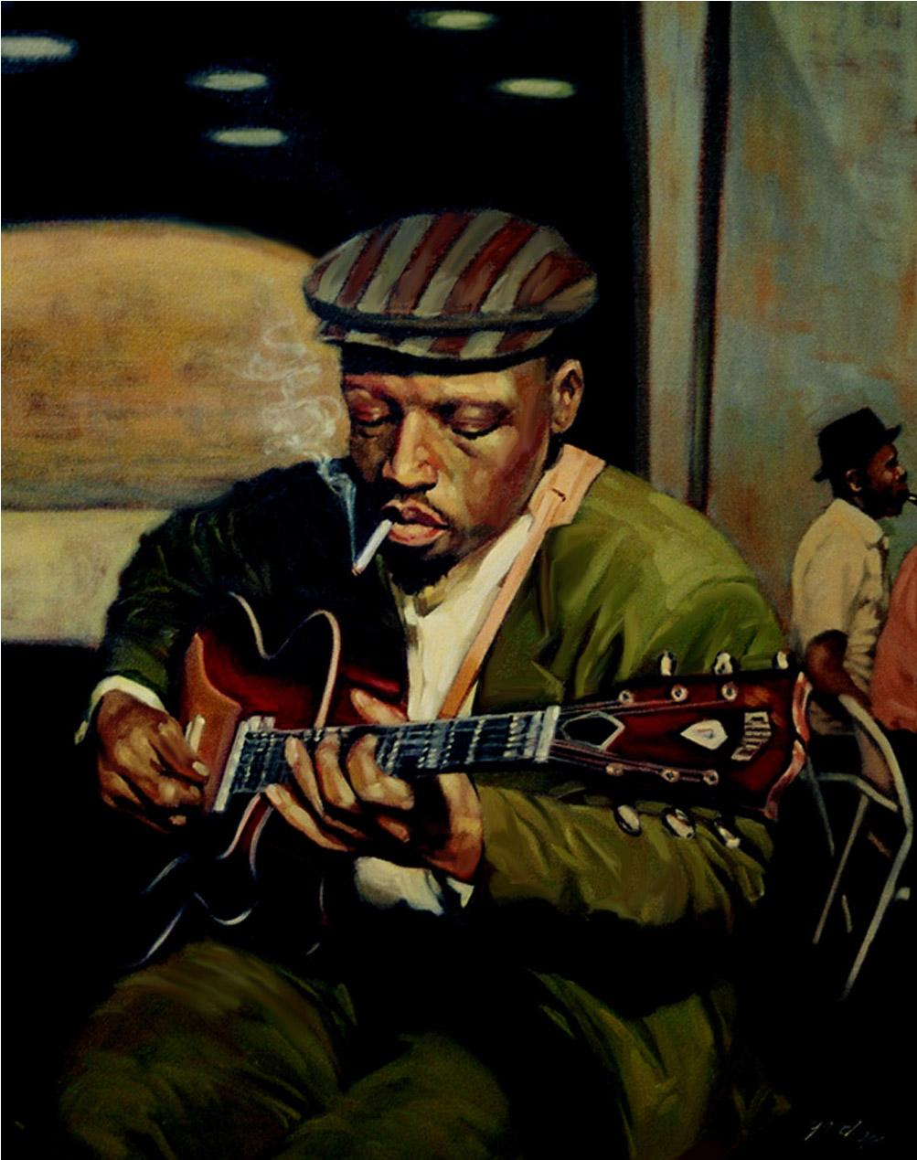 Sideman, oil on canvas, 30 x 24 in.