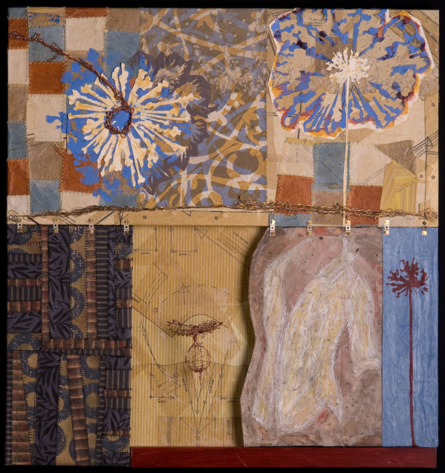 """Journal Pages,   2008, 25"""" x 25"""" x 1.5"""""""