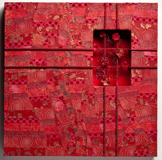 """Within Red,   2010, 24"""" x 24"""" x 2"""""""