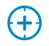 Precision crosshairs icon