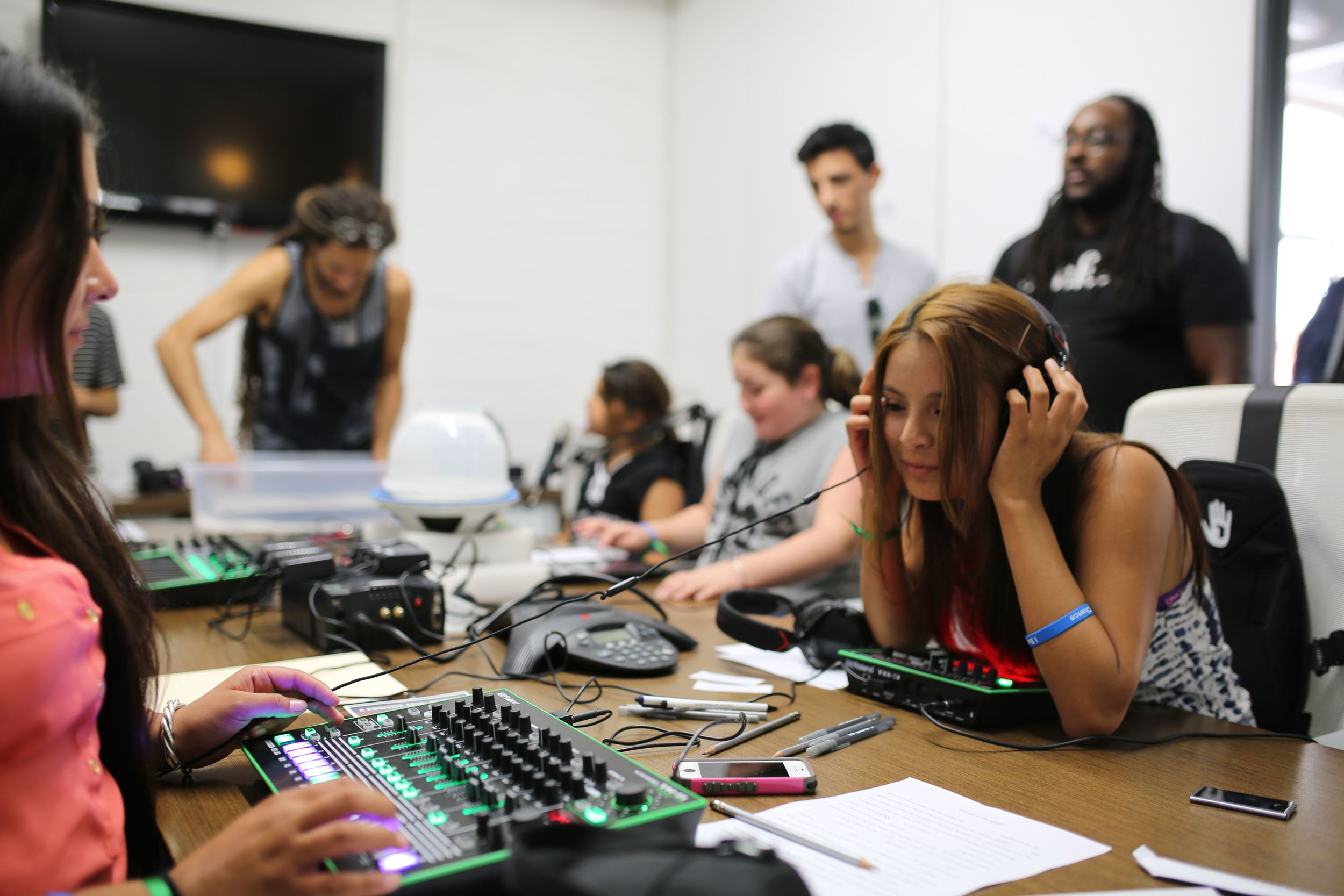 """'This is the coolest thing I've ever done."""" """"When will this happen again?"""" I love this!""""  Andrea Graham, DJ Volunteer & Give a Beat Consultant"""