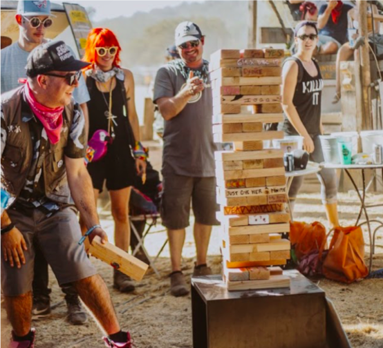 Justin Martin, Wood Holly, Britta Arnold and Sascha Lahti at Dirtybird Campout West.