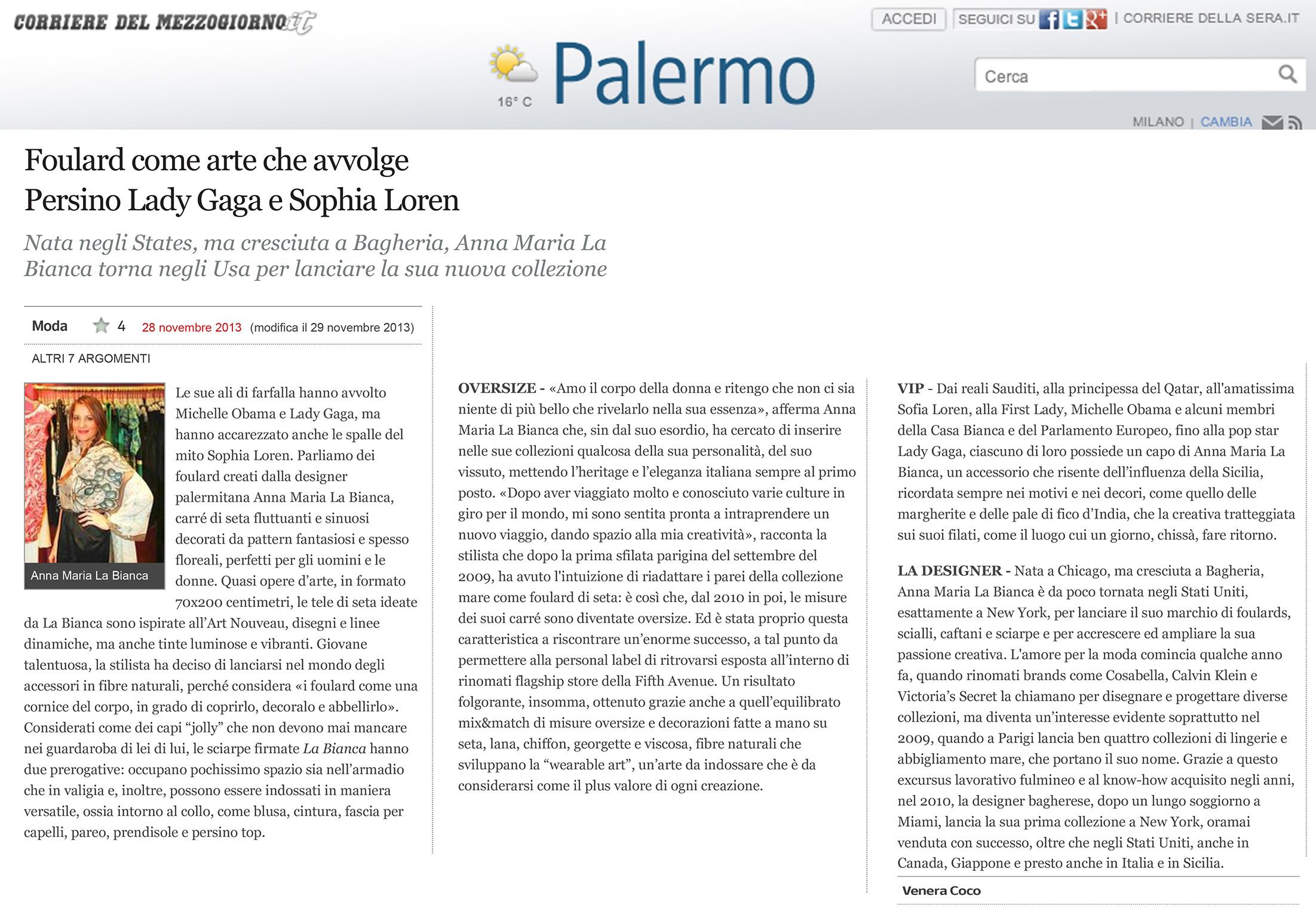 Corriere del Mezzogiorno by Corriere Della Sera Friday Nov 29 2013.jpg