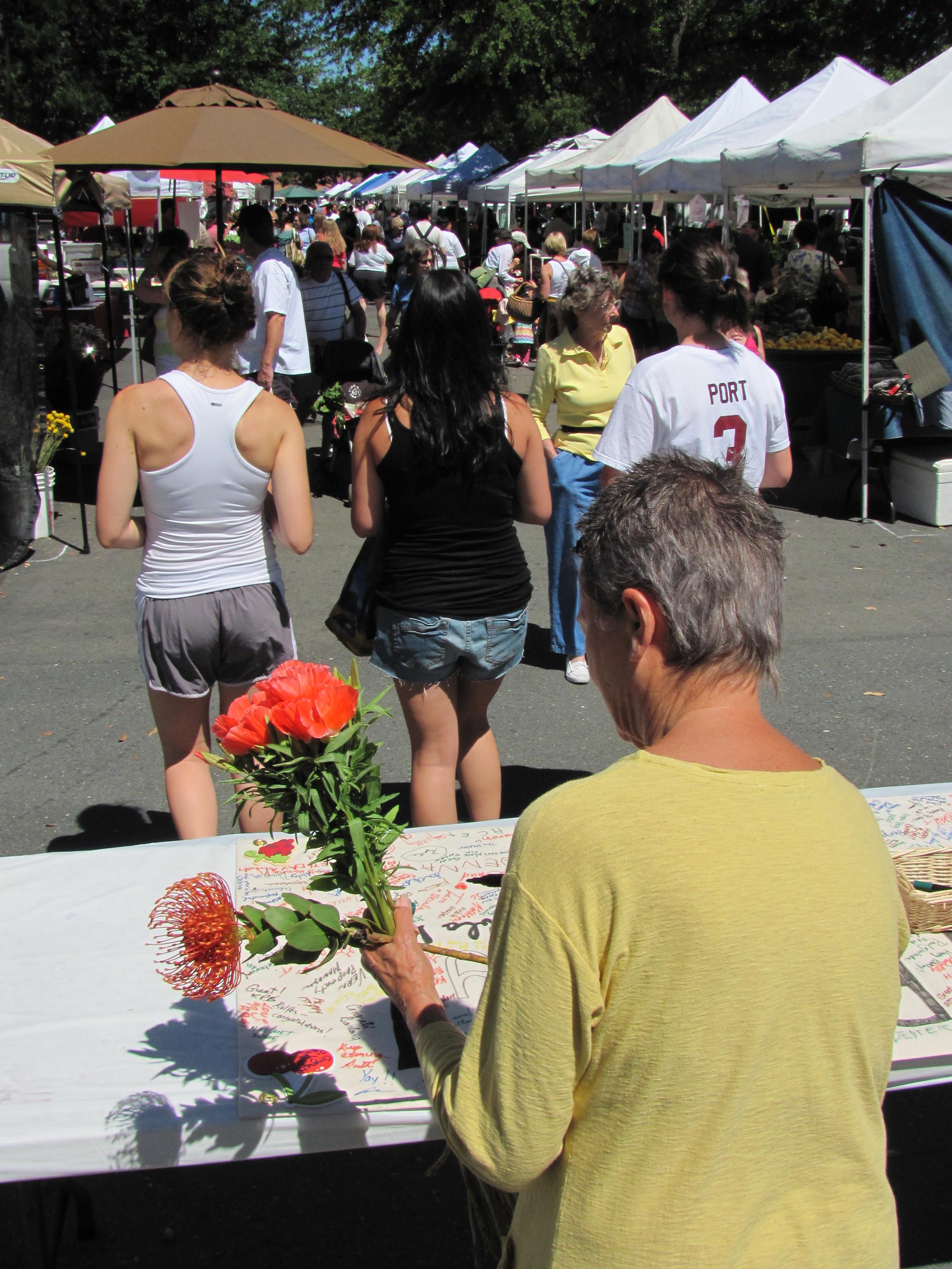 Diablo Valley Farmers' Market birthday: 5 years of Saturday farmers markets in Walnut Creek.