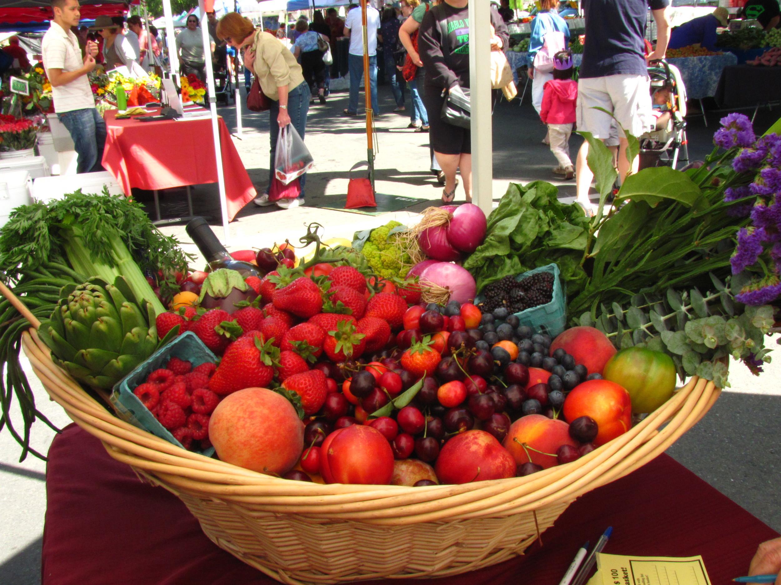 Diablo Valley Farmers' Market Basket